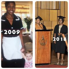 An inspiring South Africa story - domestic worker to graduate