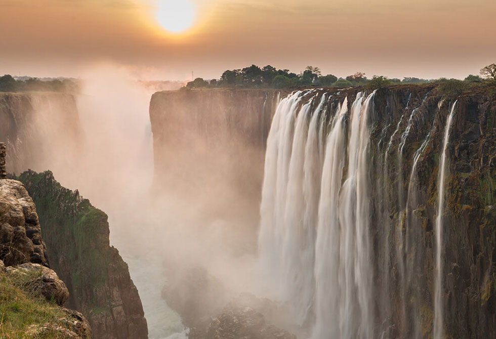 A beautiful picture of Victoria Falls Safari Club